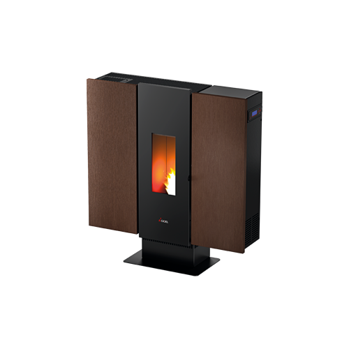 PELLET AIR PLUS 10 KW WALL 3 PLUS METALLO WENGE
