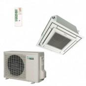Climatiseur rèversible inverter cassette 4 voies extraplate Daikin FFQ50C + RXS50L 5kW