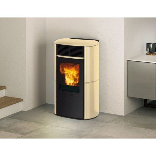 STUFA A PELLET EDILKAMIN ARIS UP PLUS CERAMICA 8 KW