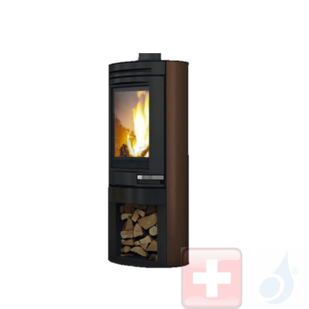 Holzofen Edilkamin 8.0 kW Tally 8 stahl Bronze